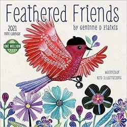 Kalendarz Feathered Friends 2021 mini Calendar Książki i Komiksy