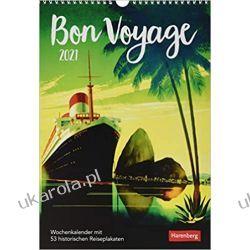 Kalendarz podróże Bon Voyage Kalender 2021 Calendar travel posters Książki i Komiksy