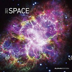 Kalendarz Space 2021 kosmos calendar Książki i Komiksy