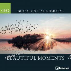 Kalendarz ścienny 2021 Beautiful Moments Calendar piękne miejsca Książki i Komiksy