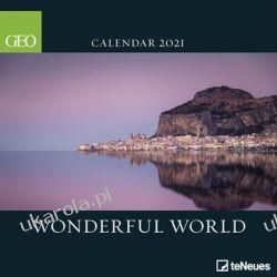 Kalendarz ścienny 2021 GEO Wonderful World Calendar wspaniały świat Książki i Komiksy