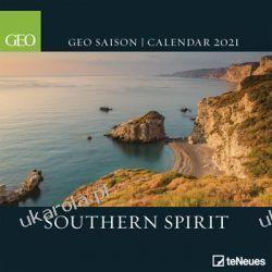 Kalendarz ścienny 2021 GEO Southern Spirit Calendar Książki i Komiksy