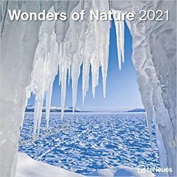 Wonders of Nature 2021 Square Wall Calendar cuda świata natury Kalendarze ścienne