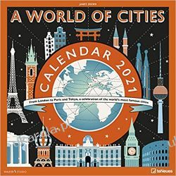 A World of Cities 2021 Square Wall Calendar miasta Kalendarze ścienne