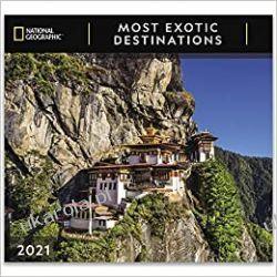 Kalendarz National Geographic Most Exotic Destinations 2021 Wall Calendar