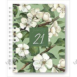 Kalendarz książkowy Glamour Planner White Flowers 2021- Diary Kalendarze ścienne