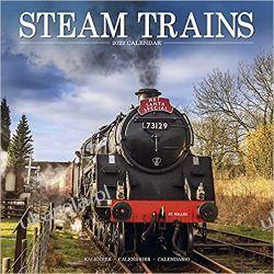 Kalendarz Steam Trains – Dampflokomotiven 2022 calendar Książki i Komiksy