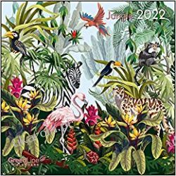 Kalendarz dźungla GreenLine Jungle 2022 calendar Książki i Komiksy