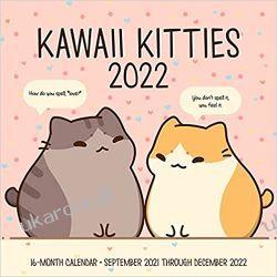 Kalendarz z kotami Kawaii Kitties 2022 Calendar Książki i Komiksy