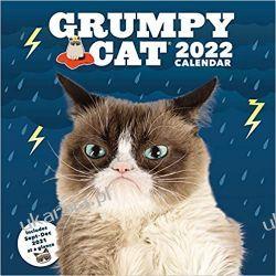 Kalendarz Grumpy Cat 2022 Wall Calendar  Książki i Komiksy