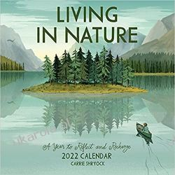 Kalendarz Living in Nature Wall Calendar 2022: A Year of Illustrations Celebrating Nature in All It's Dimensions Książki i Komiksy