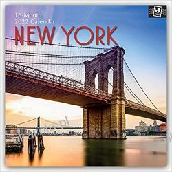 New York 2022 calendar Książki i Komiksy
