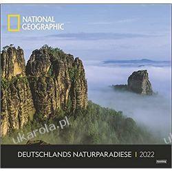 Deutschlands Naturparadiese National Geographic Kalender 2022 niemiecka natura Książki i Komiksy