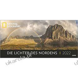 Die Lichter des Nordens Panorama National Geographic Kalender 2022 światła północy Książki i Komiksy