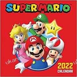 Official Super Mario 2022 Calendar - Month To View Square Wall Calendar  Książki i Komiksy
