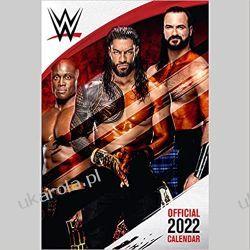 Official WWE Men 2022 Calendar - Month To View A3 Wall Calendar  Książki i Komiksy