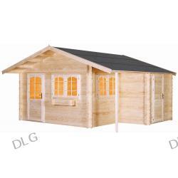 Domek ogrodowy  Elegance - deska 38mm, 470x390cm + zadaszenie 80cm