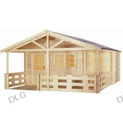 Domek ogrodowy Elegance - deska 38mm, 470x390cm + taras 200cm