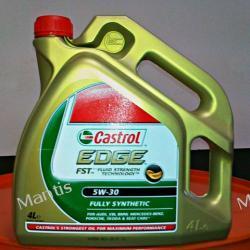 Castrol EDGE 5W-30 4 L  SAE 5W-30; ACEA A3/B3, A3/B4, C3; BMW Longlife-04; VW 504 00/ 507 00; MB-Approval 229.51; Spełnia wymagania specyfikacji VW 503 01