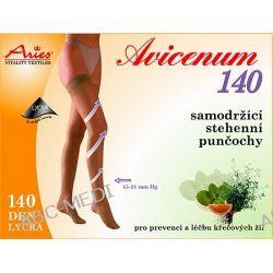 AVICENUM - Pończochy przeciwżylakowe z koronką  140 den