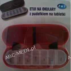 Etui / pudełko / na leki na 7 dni połaczone z etui na okulary