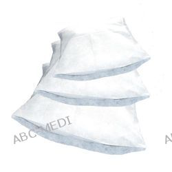 Art. nr 52531 Poszwa medyczna na kołdrę jednorazowego użytku z włókniny PP, biała, 30gsm, 195x115cm Chusty i apaszki