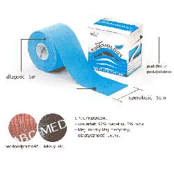 Nasara kinesio-logy tape 5 cm x 5 m - ORYGINALNE plastry - WODOODPORNE + instrukcja