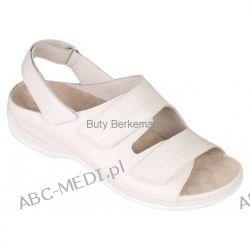 Berkemann sandały WENKE - kremowe i czarne Sandałki