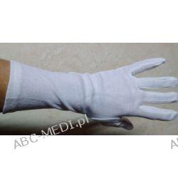 Rękawiczki bawełniane białe ECO PLUS długie 30 cm rozmiar 6/7/8 Chusty i apaszki