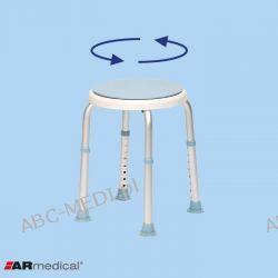 Taboret prysznicowy okrągły obrotowy - AR - 201 A Łóżka, fotele, stoły