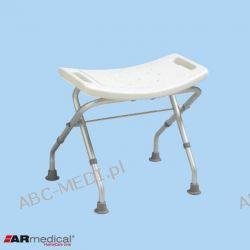 Taboret prysznicowy składany. Aluminiowy  - model: AR-205 Wyposażenie szpitali i gabinetów