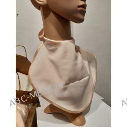 Osłona w formie apaszki ABC-MEDI - dla osób po tracheotomii i laryngektomii model BRZOSKWINIOWY Odzież, Obuwie, Dodatki