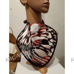 Osłona w formie apaszki ABC-MEDI - dla osób po tracheotomii i laryngektomii model CZE-STAL Odzież, Obuwie, Dodatki