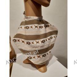 Osłona w formie apaszki ABC-MEDI - dla osób po tracheotomii i laryngektomii model BEŻ-ŁAŃ Odzież, Obuwie, Dodatki