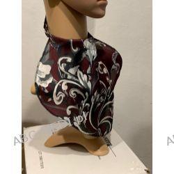 Osłona w formie apaszki ABC-MEDI - dla osób po tracheotomii i laryngektomii model BORDO-FLOK Odzież, Obuwie, Dodatki