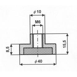 Uchwyt Magnetyczny Neodymowy UM 40 x 8,5 x M6