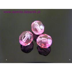 Koraliki fasetowane różowe