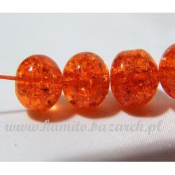 Koraliki pomarańczowe crackle 12 mm