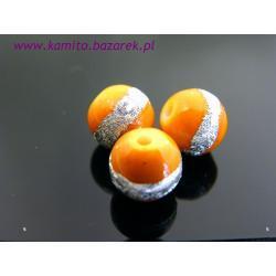 Koraliki srebrem malowane 6 mm
