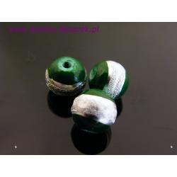 Koraliki srebrem malowane 8 mm