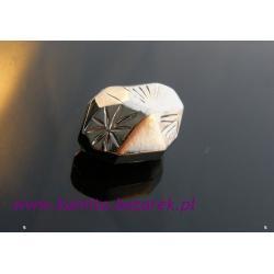 Koraliki akrylowe srebrzone
