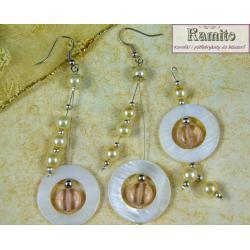 Komplet Biżuterii z Masy Perłowej  z Zawieszką