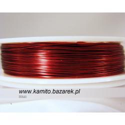 Czerwony drut 0.3 mm
