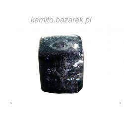 Koraliki czarno-białe crackle kostka 8 mm,8 szt