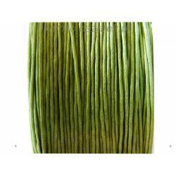 Sznurek bawełniany do biżuterii zielony