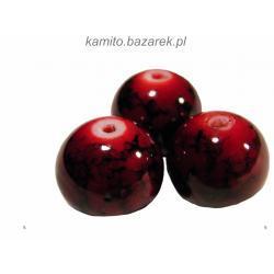 Koraliki czerwone kule 8 mm