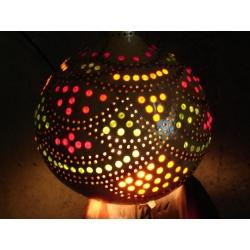 Lampa z tykwy naturalna Afryka   Pozostałe