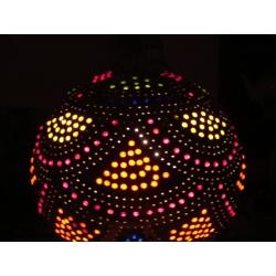 Naturalna Lampa z tykwy kolorowo ozdobiona wykonana recznie  Klasyczne