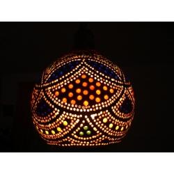 Lampa z tykwy naturalna Afryka   Na rękę