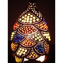 Lampa z tykwy naturalna Afryka   Klasyczne